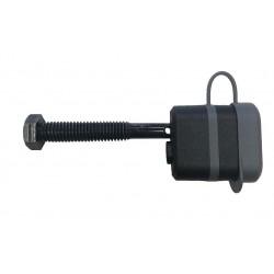Locking threaded hitch pin