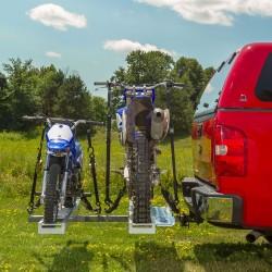 Support à moto double